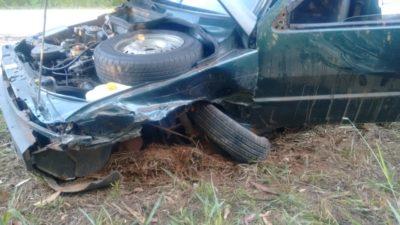 Veículo furtado é recuperado após acidente de trânsito
