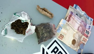 Drogas são encontradas com passageiro de ônibus após denúncia