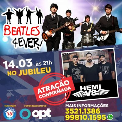 Banda itapevense fara abertura para os Beatles