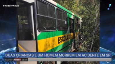 Acidente entre ônibus escolar e caminhão deixa mortos em Itapeva (SP) ( 29/07/19 )