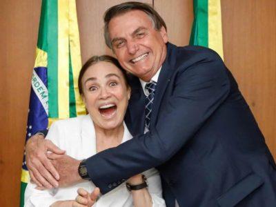 O almoço de Regina Duarte e Bolsonaro