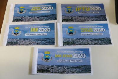 Prefeitura começa a distribuir carnês de tributos municipais nos próximos dias