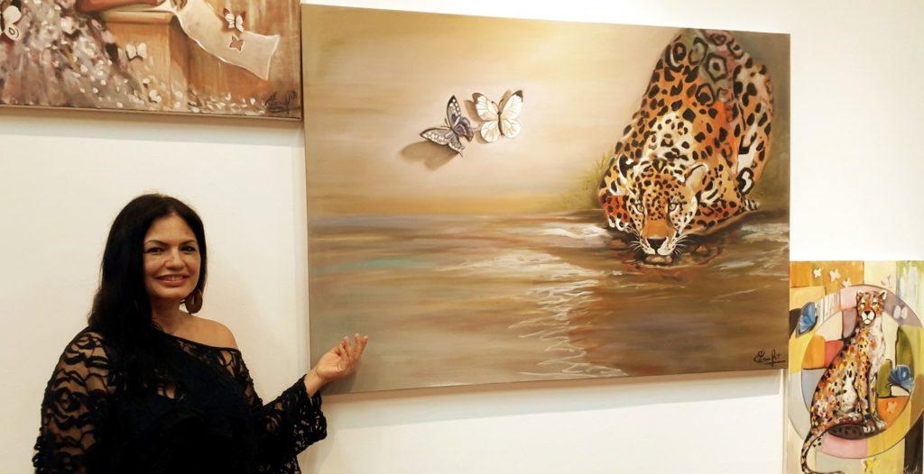 Artista internacional realiza exposição de quadros em Itapeva