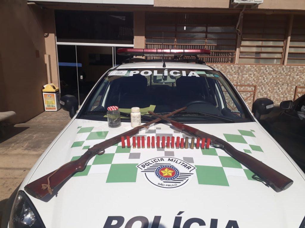 Polícia Ambiental apreende armas na zona rural