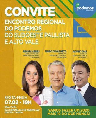 Itapeva recebe liderança do PODEMOS nesta semana