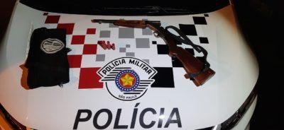 Polícia Militar prende homem por disparos de arma de fogo em via pública