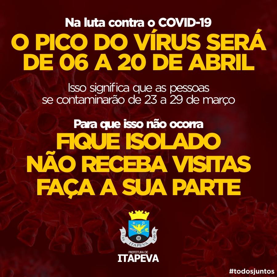"""Prefeitura alerta sobre o """"pico do vírus"""" na próxima semana"""