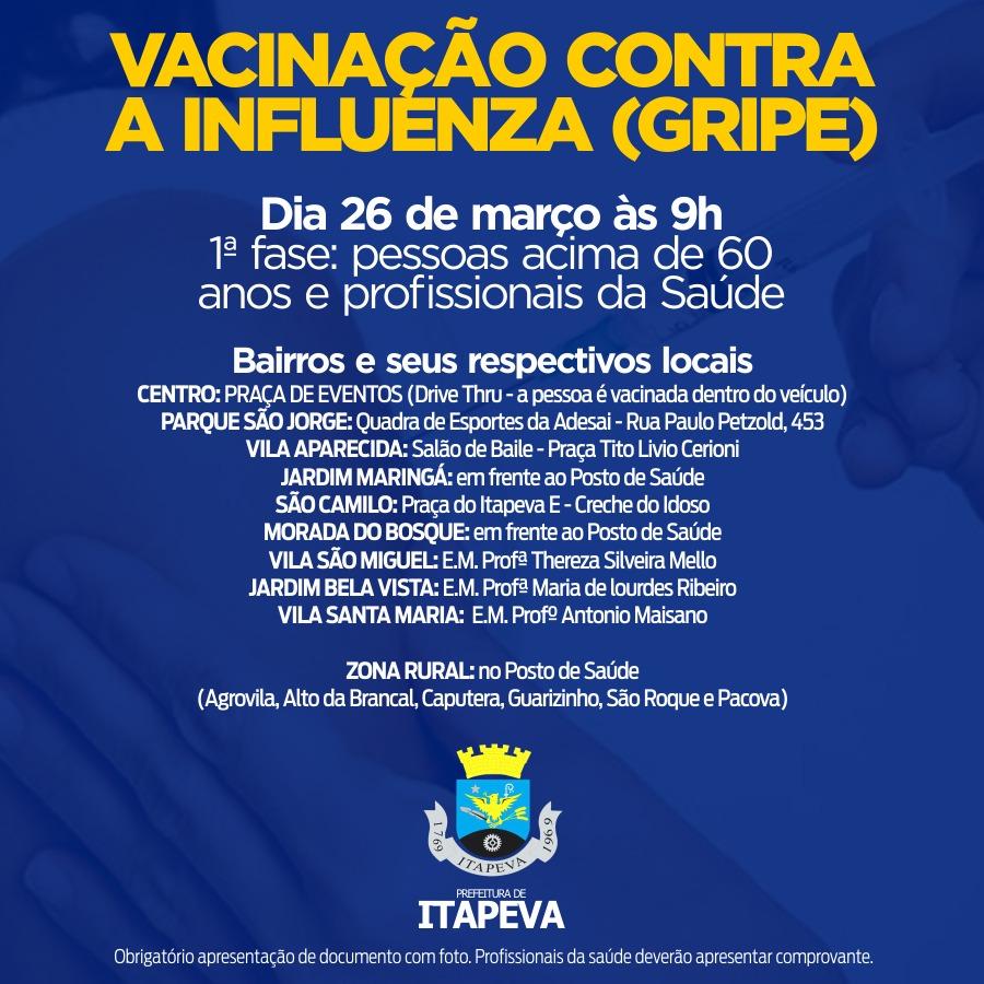 Nova remessa de vacinas contra a gripe disponível para a população