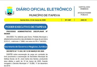 Secretário de Defesa Civil de Itapeva é exonerado