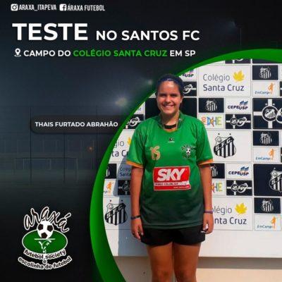 Atleta da Escola de Futebol do Araxá participa de peneira do Santos