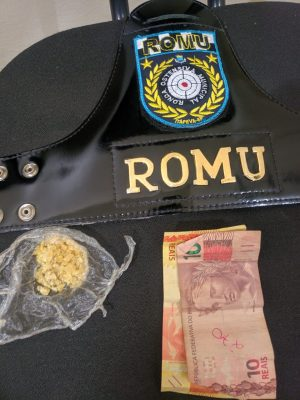 ROMU apreende drogas no Residencial Morada do Bosque