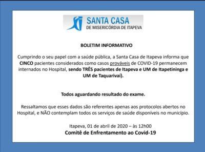 Nota Oficial da Santa Casa de Itapeva