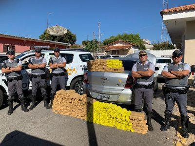TOR da Polícia Rodoviária apreende mais de 320 quilos de maconha