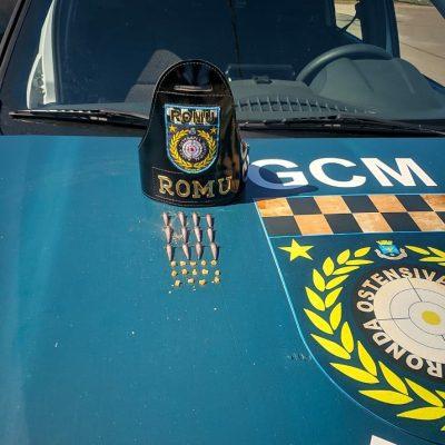 GCM apreende cocaína em ponto de tráfico de drogas