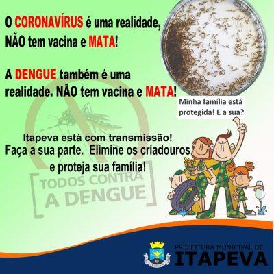 Secretaria de Saúde faz alerta sobre transmissão de dengue no município