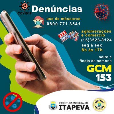 Prefeitura abre canal de comunicação para denúncias sobre questões relacionadas à pandemia do Coronavírus