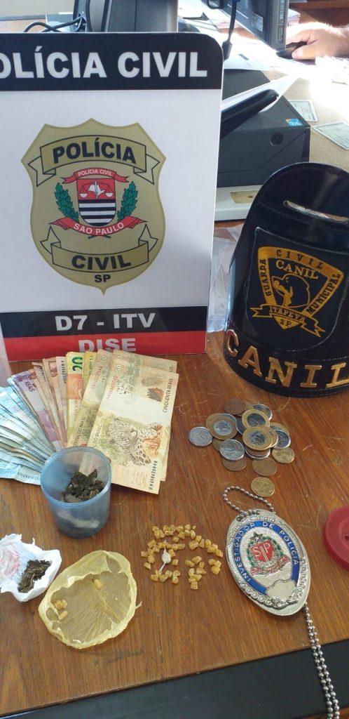 Equipe do Canil da GCM presta apoio à DISE em ocorrência de tráfico de drogas