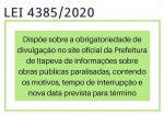 Lei aprovada na Câmara obriga município a dar transparência sobre obras paralisadas