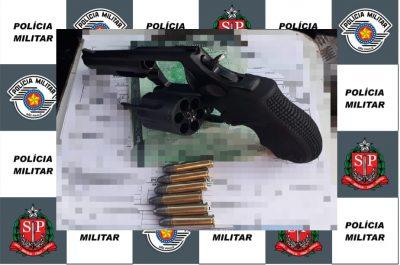 Revólver é apreendido pela Polícia Militar de Nova Campina