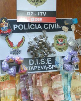 Operação das forças policiais resultou em 4 prisões, apreensão de drogas e dinheiro