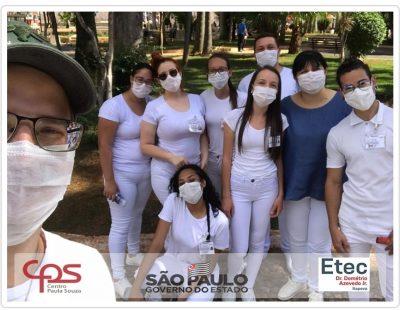 Alunos e professores de Enfermagem voltam aos campos de estágio após 7 meses de paralisação na Escola de Minas