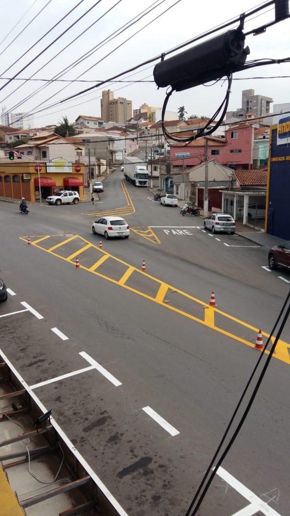 Defesa Social reforça sinalização horizontal na Rua Ricardo Watherly