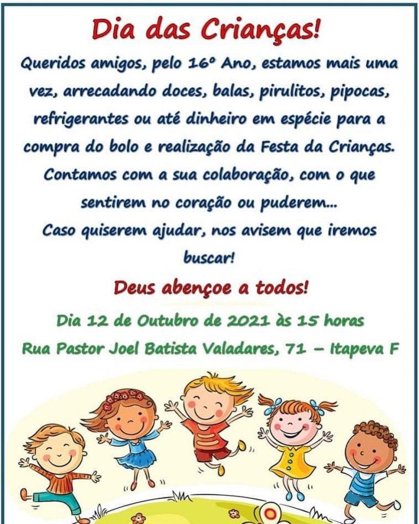 16ª Festa em comemoração ao Dia das Crianças