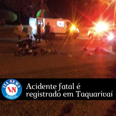 Acidente fatal é registrado em Taquarivaí