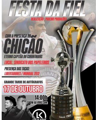 Festa da Fiel: ex-jogador do Corinthians estará em Itapeva dia 17