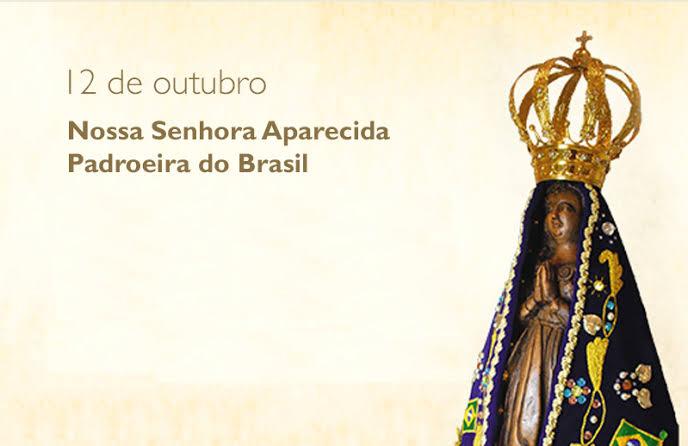 Dia da Padroeira do Brasil será comemorado com missas durante toda a terça-feira
